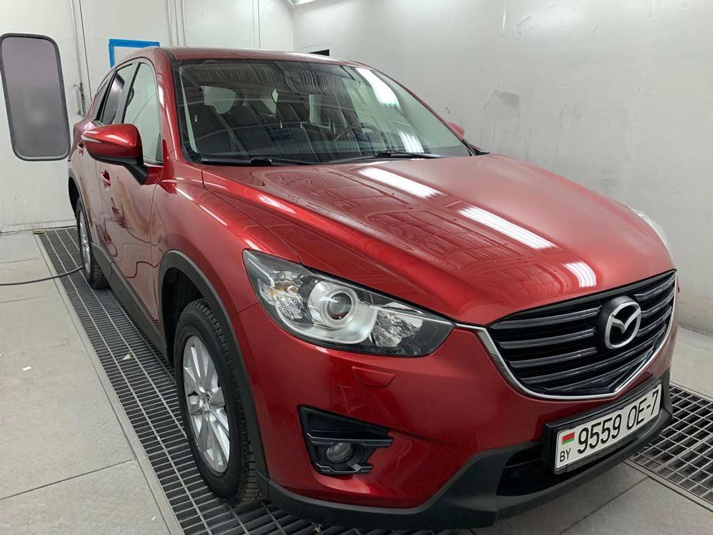 покраска Mazda в камере